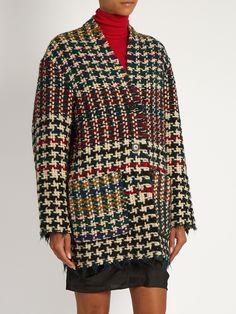Diana hound's-tooth wool-blend tweed coat | Isabel Marant | MATCHESFASHION.COM…