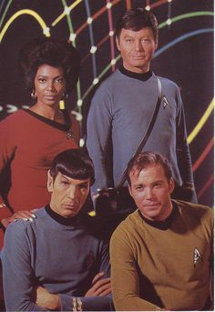 Star Trek The Original Lt. Uhura, Bones, Spock, and Kirk