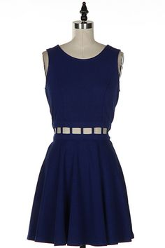 NEW! www.shopsimplyme.com -TRUE BLUE Cut Out Flare Skirt Skater Dress Shop Simply Me Boutique – Simply Me Boutique