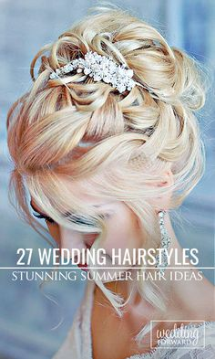 If you getting married in the summer, this gallery of stunning wedding hairstyles & updos is for you ❤ See more: http://www.weddingforward.com/stunning-summer-wedding-hairstyles/