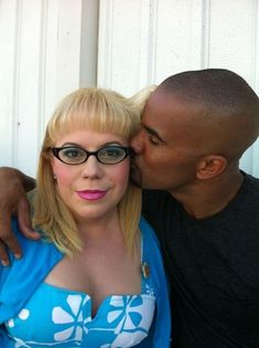 Penelope Garcia (Kirsten Vangsness) and Shemar Moore from Criminal Minds Kirsten Vangsness, Derek Morgan, Penelope Garcia, Hey Baby Girl, Baby Boy, Morgan And Garcia, Sherman Moore, Behavioral Analysis Unit, Criminal Minds Cast