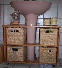 Para pequenos banheiros grandes soluções