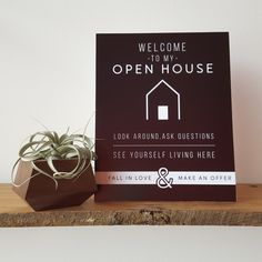 FREE DOWNLOAD Welcome Signs for Open Houses Showings Real