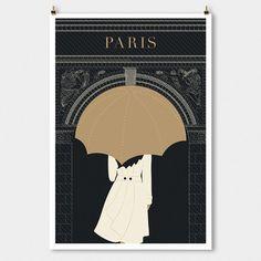 SALE Paris decor Arc Minimalist Modern art by TheParisPrintShop