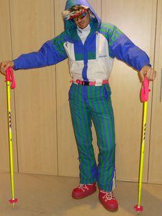 Retro Ski Man  Nevica Zig Zag