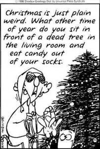christmas is just weird, funny comic quotes