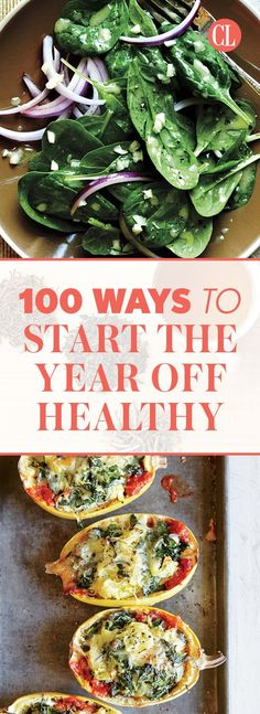 These 100 healthy tips will get you started to a wholesome year full of fitness, nutrition, and a more healthy lifestyle. | Cooking Light