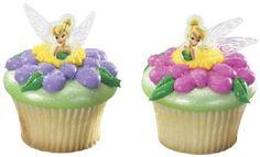 Disney Tinkerbell Tinker Bell Fairy Fairies Cupcake Cake Rings. $2.55, via Etsy.