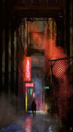 """Cyberpunk, Neo Noir, Dark Future, The Art Of Animation, Markus Lovadina. Aka:""""Malo"""""""
