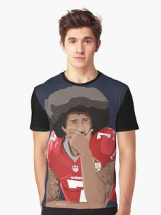 e8213aadb Buy 'Colin Kaepernick thinking kneeling number 7' by MimieTrouvetou as a T- Shirt