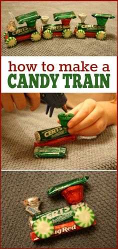 How to make a Candy Train -- I found all the supplies at the Dollar Tree and was able to make 8 trains for about $10! Great craft for the kids!