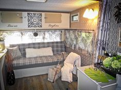 Glamper 1976 trailer update - traditional - living room - toronto - Karen Murray Interiors