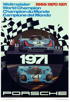 Poster Carros Porsche Weltmeister 1971 - Decor10