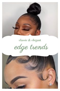 Classic and Beautiful Edge Trends Prom Hairstyles, Braided Hairstyles, Natural Hair Types, Scarf Tutorial, Looking Gorgeous, Beautiful, Hair Laid, African American Hairstyles, Relaxed Hair