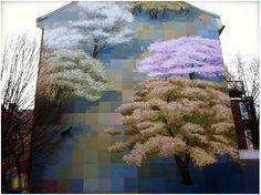 Viajar a Filadelfia para ver la pintura mural en sus edificios