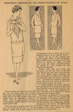 The Midvale Cottage Post: Home Sewing Tips from the 1920s - Sewing Frocks with Style