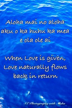 ~When Love is given, Love naturally flows back in return~
