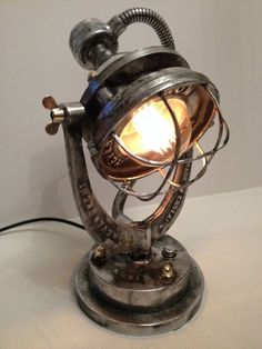Hever Iron Works vintage industrial desk light lamp steampunk