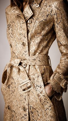 Burberry golden floral lace coat, beautiful, perfection