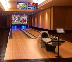 Would love to have a bowling alley in a house.  I can dream with the best of them.