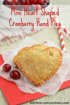 Kitchen Concoctions: Mini Heart Shaped Cranberry Hand Pies {Plus a Comforting Winter Dinner with Caesar Salad and Marie Callender's Pot Pies}
