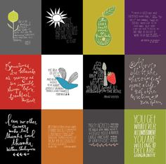 A montage of hand-lettered quotes by @Lisa Congdon. One hundred of them will be published as a book by@Chronicle Books in 2014. #quotes