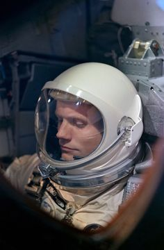 Astronaut Neil Armstrong during the Gemini 8 mission