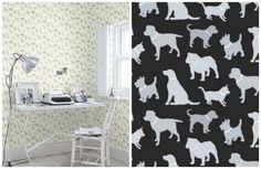 11 Dog-Inspired Wallpapers That Prove The Trend Isn't Dead After All - BarkPost Conversation Starters, Dog Boarding, Dog Memes, Dog Design, Yorkie, More Fun, Cute Pictures, Home Goods, Walls