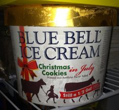 Blue Bell Ice Cream - Christmas Cookies in July