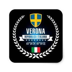 Verona Square Sticker - craft supplies diy custom design supply special