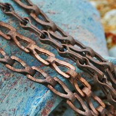 1 FOOT of antique copper chain....  display...  by CoolVintage