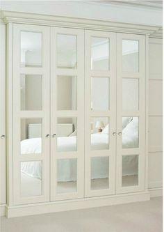 Ikea Closet Doors, Folding Closet Doors, Mirror Closet Doors, Ikea Pax Wardrobe, Bathroom Doors, Wardrobe Doors, Wardrobe Storage, Wardrobe Closet, Closet Office