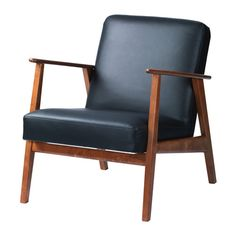 IKEA EKENÄSET armchair The chair legs are made of solid wood, which is a durable natural material. Chaise Ikea, Ikea Armchair, Ikea Chairs, Recliner Chairs, Chair Cushions, Design Ikea, Workspace Design, Accent Chairs Under 100, Dorm Rooms