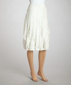 Look at this #zulilyfind! Zashi Ivory Lace Skirt by Zashi #zulilyfinds