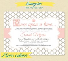 Fairytale Storybook Baby Shower Invite / by sunnysideprintparty