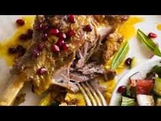 This Persian Lamb Shank recipe is a traditional Persian dish - lamb shanks slow cooked in an aromatic broth until fall apart tender. It's simply incredible! Persian Lamb Shank Recipe, Lamb Recipes, Cooking Recipes, Iranian Cuisine, Braised Lamb Shanks, Recipetin Eats, Slow Cooked Beef, Lamb Dishes, Indian Dessert Recipes