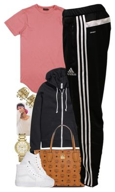 """Untitled #1429"" by power-beauty ❤ liked on Polyvore featuring H&M, MCM, adidas, Michael Kors and Vans"