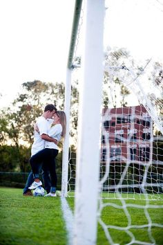 Soccer themed engagement photo ideas
