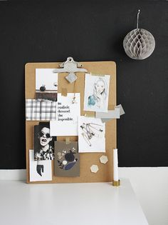 clipboard mood board DIY by AMM blog