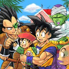 Raditz, young Gohan, Goku and Krillin Saga Dragon Ball, Dragon Ball Z Shirt, Clannad, Goku And Gohan, Son Goku, Manga Anime, Anime Art, Manga Dragon, Dbz Characters