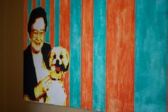 "Sweet Lady and the Devil Dog, 2003 silkscreen and oil on canvas © copyright Mike Kraus Noah Hopson and Frances Close Photos by Frances Close  All she wanted was companionship.  Someone to share her apartment at the senior community.  She replied to an ad that said, ""Free Bichon to a good home.""  How could she resist?  The sweet lady had to learn the hard way that ""you get what you pay for."
