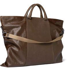 Bottega Veneta Men s Coated Linen and Leather Tote Bag 36 3 #fashionbag