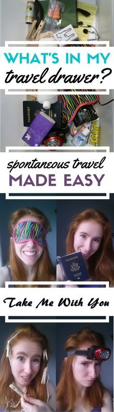Pin for the most applicable travel tip you've heard all month: spontaneous travel made easy with a travel drawer. What's that? Read on.