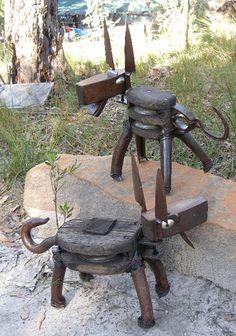 metal dog sculptures | BLOCKER
