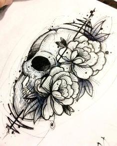 50 Skull Pencil Drawing Ideas - 50 Skull Pencil Drawing Ideas S - 50 skull pencil drawing ideas 50 skull pencil drawing ideas SkullSketch bleistiftzeichn - backtattoo drawing ideas pencil skull tattoosketches wavetattoo # Tattoo Sketches, Tattoo Drawings, Body Art Tattoos, Pencil Drawings, Sleeve Tattoos, Cool Tattoos, Tatoos, Skull Drawings, Key Tattoos