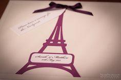 Wedding Guest book message Eiffel Tower Cut out