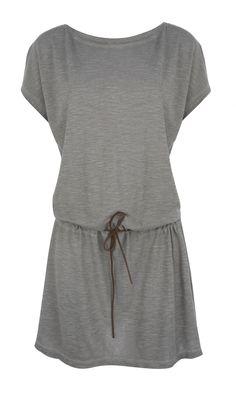 Pale grey T-shirt dress - Plümo