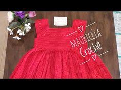 Vestido de crochê infantil 6 anos - YouTube Crochet For Kids, Crochet Baby, Knit Crochet, Flower Girl Dresses, Baby Dresses, Knitting, Wedding Dresses, Blog, Preemies