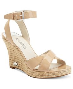 MICHAEL Michael Kors Shoes, Kami Platform Wedge Sandals - Espadrilles & Wedges - Shoes - Macy's