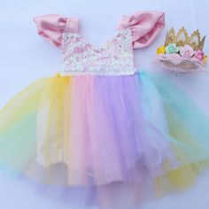 A Magical Unicorn Pastel Tutu Sparkle Romper - Belle Threads